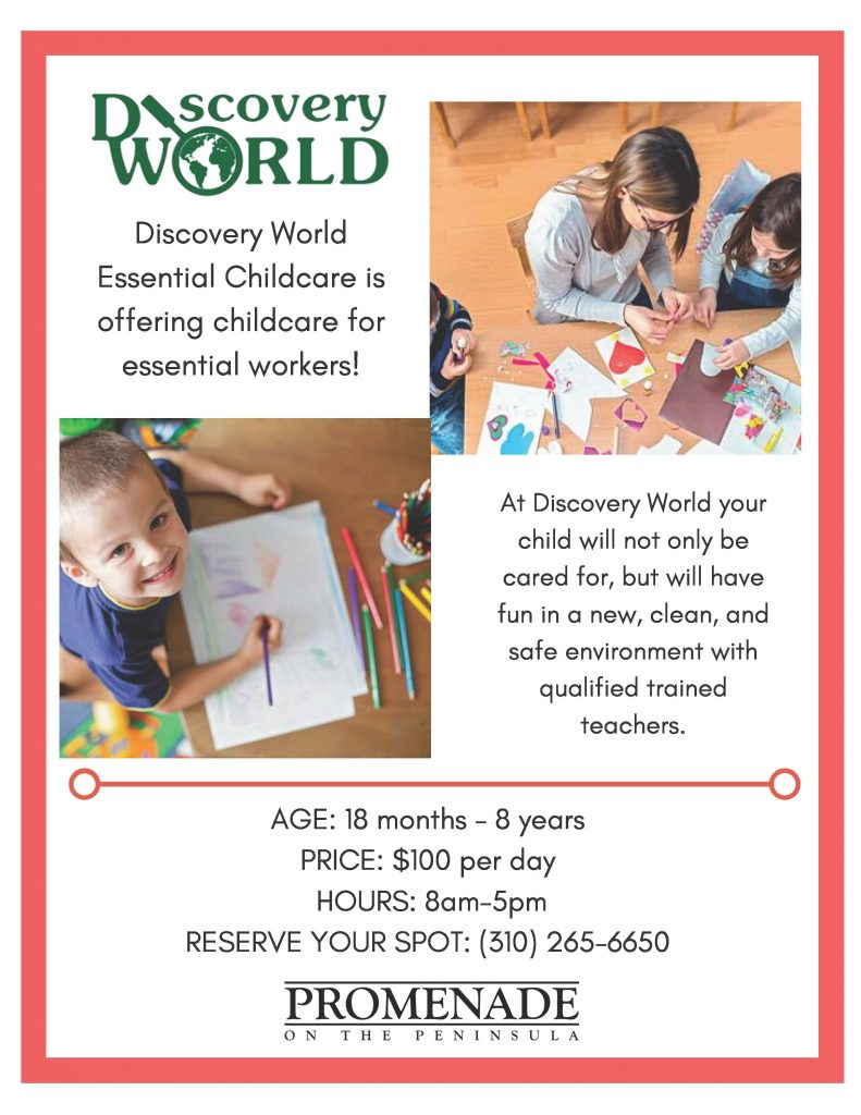 Discovery World Childcare Flyer