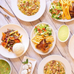 plates of food on table